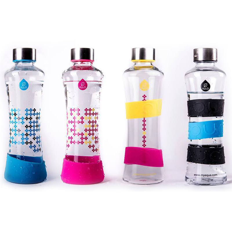 Gourde en verre Squeeze de Equa, design et écologique