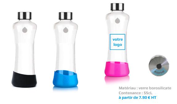 bouteille publicitaire verre