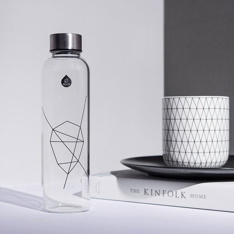bouteille de 1 litre en verre et design