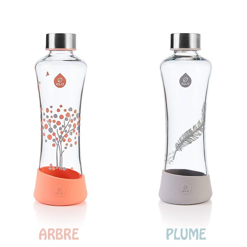 La gourde transparente Equa permet de véhiculer votre eau de façon saine, sans risuqe de contamination