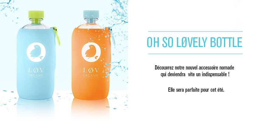 Lovely bottle aquaovo, une bouteille d'eau co-brandée