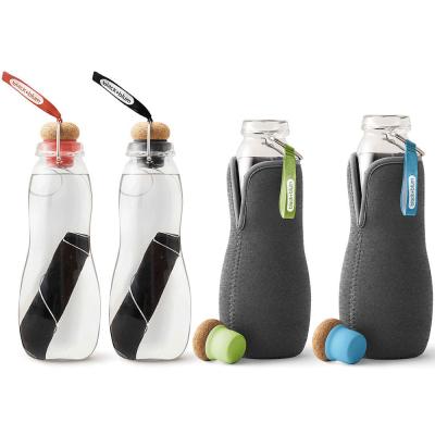 Bouteille filtrante en verre de Black-blum, en matériau noble