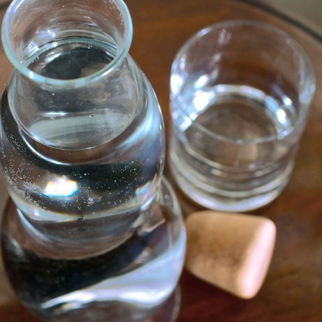 bouteilles filtrantes design en verre