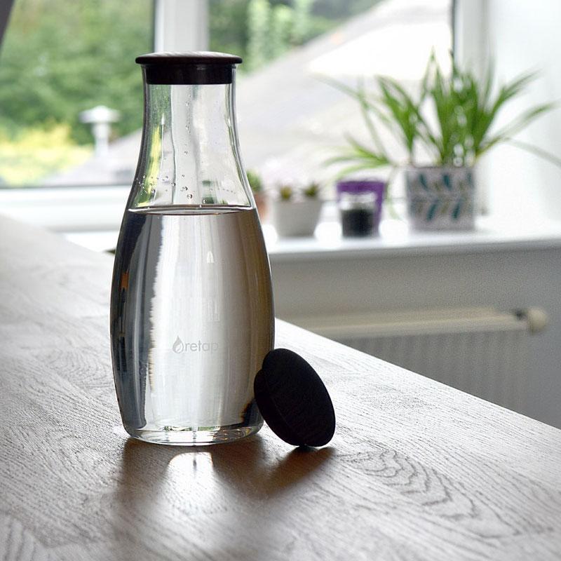 carafe en verre design retap sur pimp my bottle