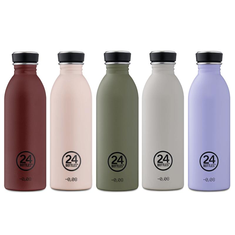 Gourdes design 24 Bottles, légères, en inox