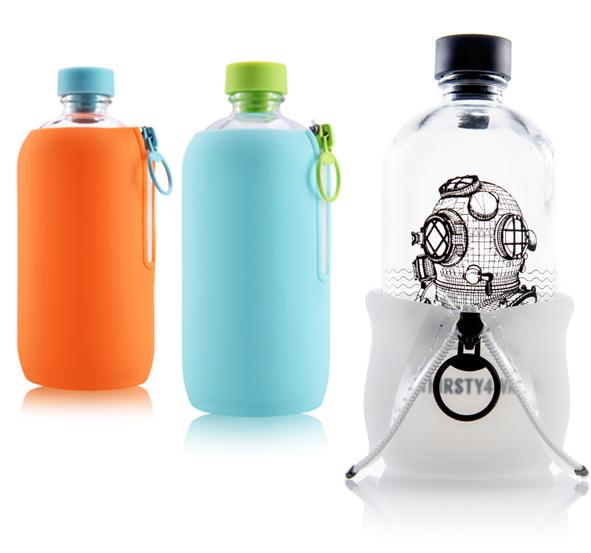 Une bouteille d'eau design comme cadeau de Noël