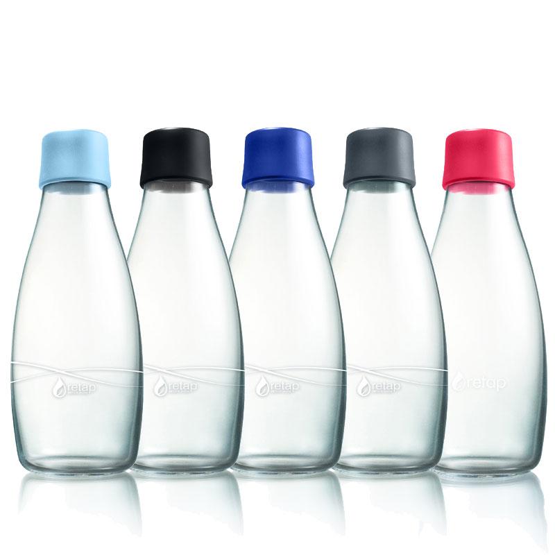 pack 5 bouteilles r utilisables en verre de 50 cl pimp my bottle. Black Bedroom Furniture Sets. Home Design Ideas