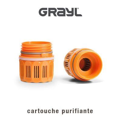 cartouche purifiante grayl, pour disposer d'eau potable, pure et fraîche