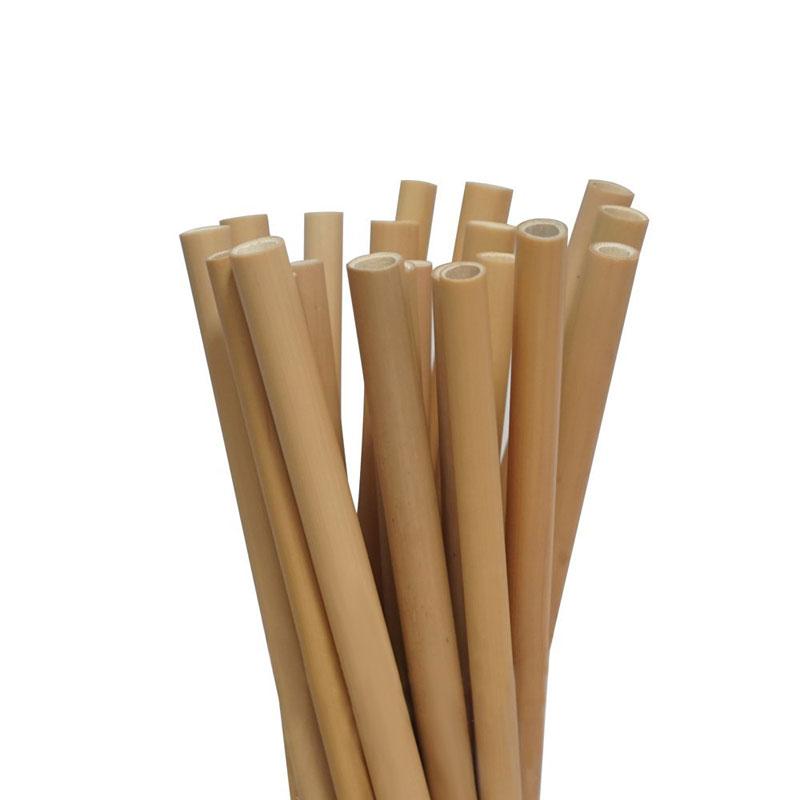pailles en bambou naturelles, réutilisables et bio-dégradables