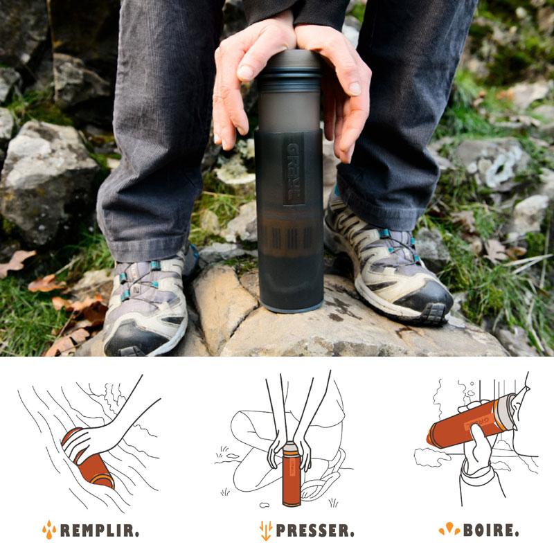 purificateur d'eau portable pour randonnée partout dans le monde