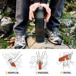 Purificateur d'eau potable pour randonnée, voyage