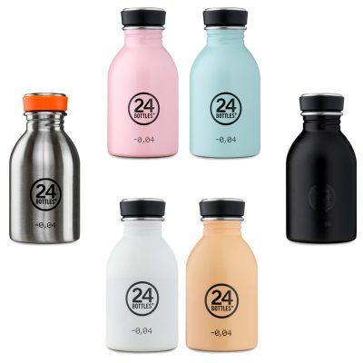 Gourde inox design de 24 Bottles, avec option housse