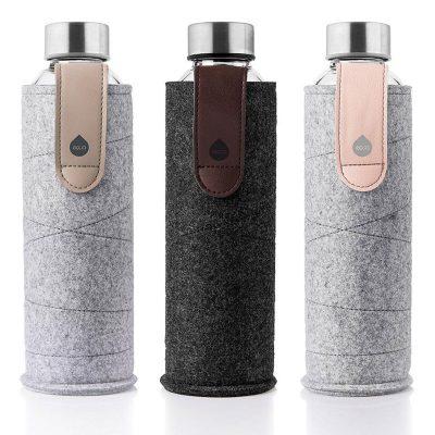 bouteille design en verre avec housse Mismatch 75
