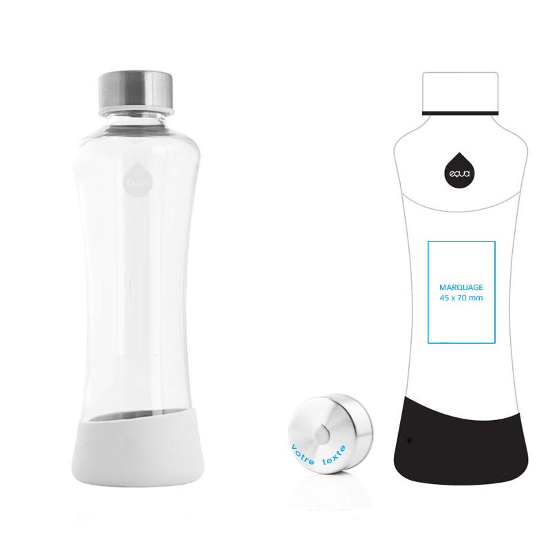 bouteille en verre personnalisée, cadeau design et écologique