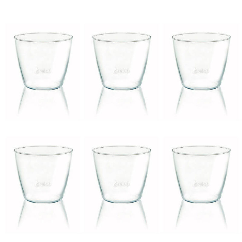 verre à eau Retap, pack de 6 verres design