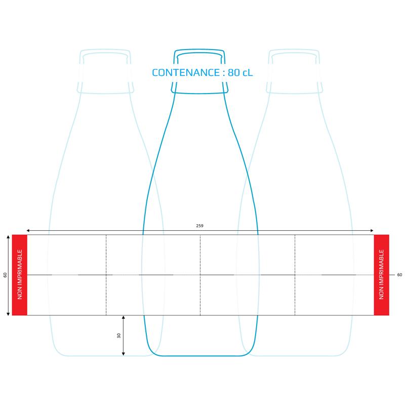 bouteille personnalisable design