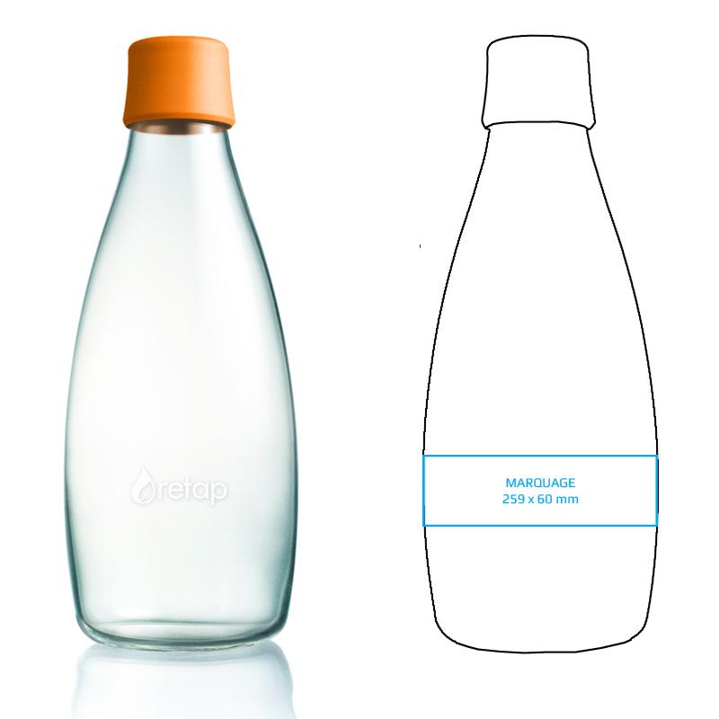 bouteille personnalisable en verre de 80 cl