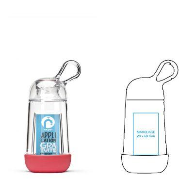 gourde en plastique personnalisée