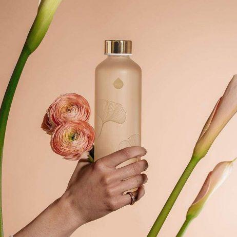 bouteille élégante en verre Equa Mismatch Nature