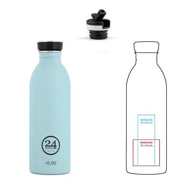 Gourdes sport inox personnalisables 24 Bottles, par Pimp my bottle