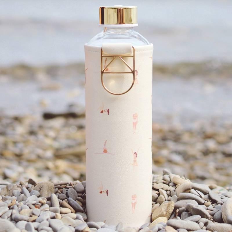 Gourde en verre et réutilisable Playa, par Equa