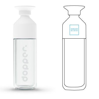 Gourde publicitaire isotherme en verre FOGEO