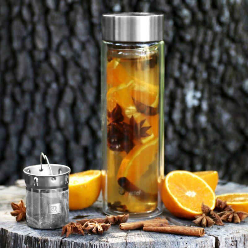 Infusion nomade de votre thé grâce à ce thermos en verre