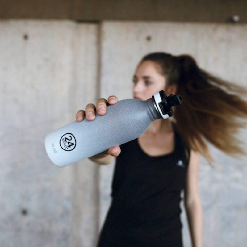 Bouchon sport pour gourdes 24 Bottles avec paille rabatable
