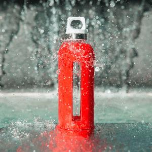 Bouteille en verre Sigg, alternative à la bouteille réutilisable en plastique