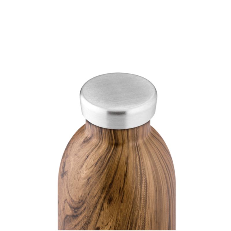 Bouteille isotherme design avec finition bois par 24 Bottles