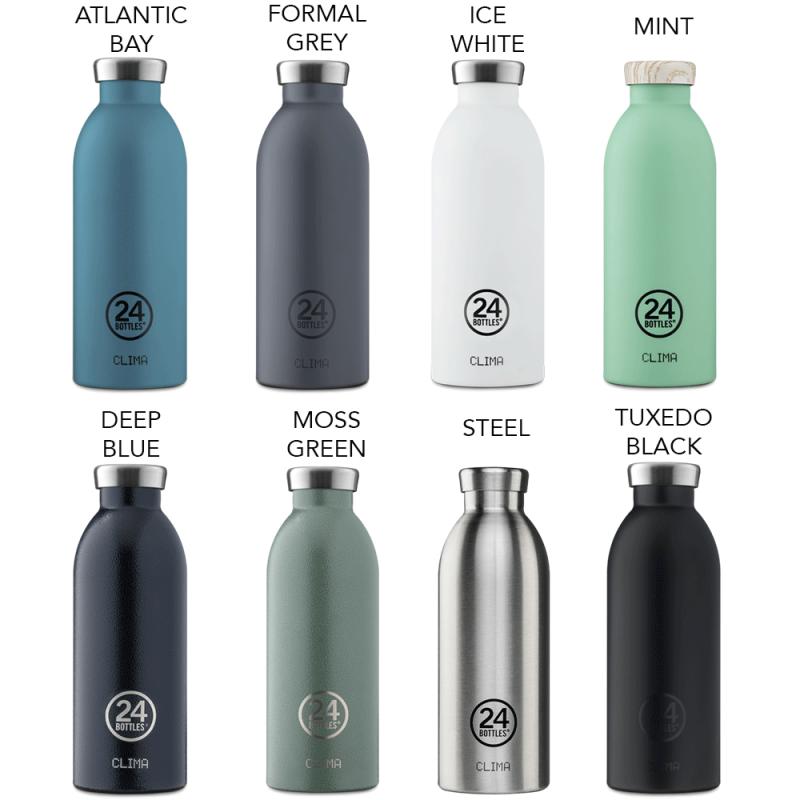 Gamme Clima de la marque de bouteilles réutilisables 24 Bottles