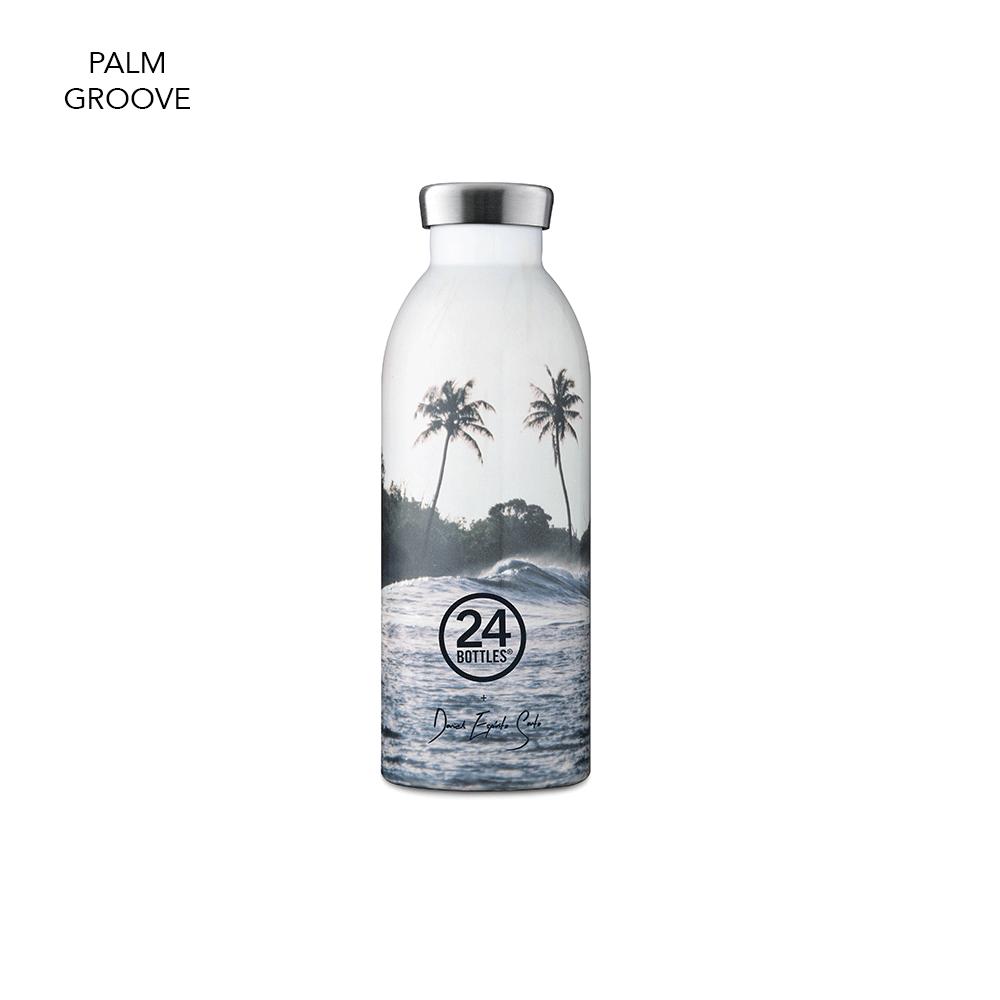 Bouteilles isothermes en inox Clima Bottle, design Palm Groove