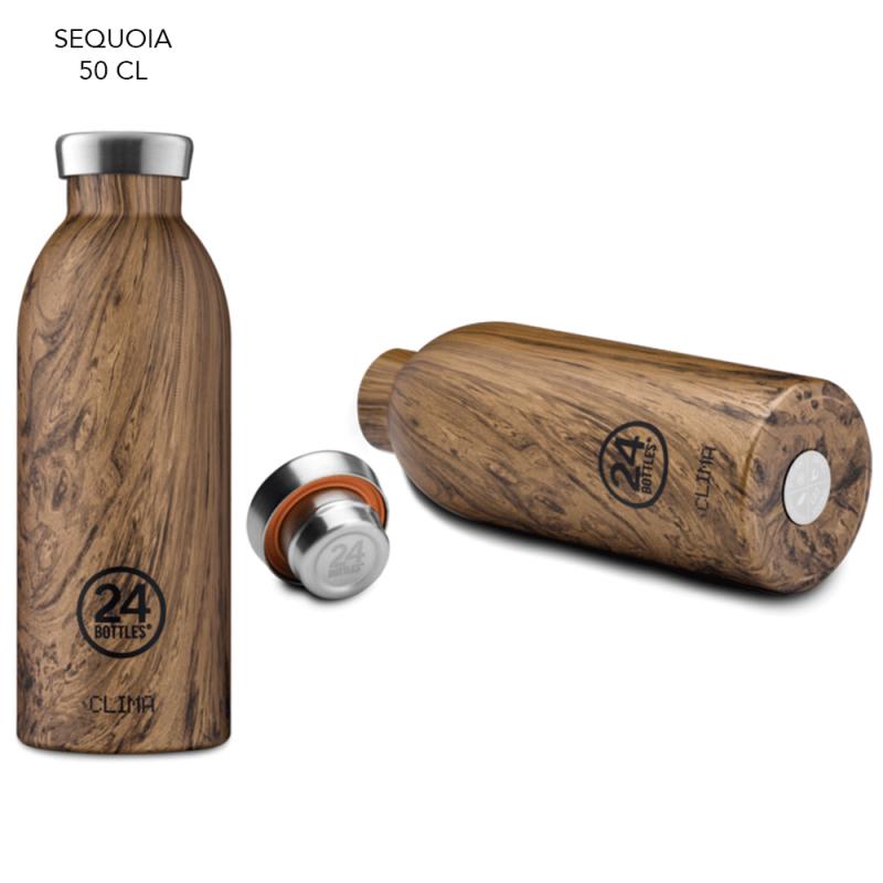 Gourde finition bois, isotherme et design par 24 Bottles