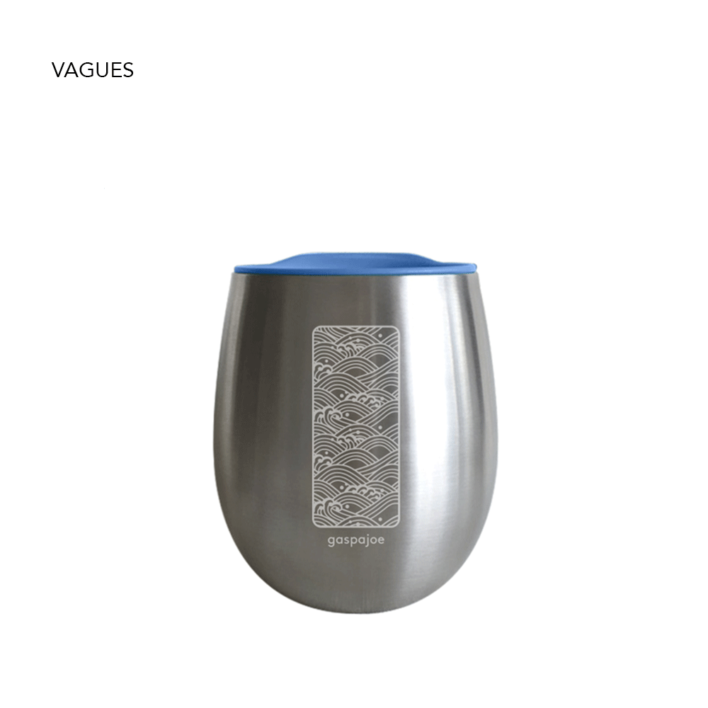 Mug Gaspajoe modèle Cosy, design vagues. Alternative au gobelet jetable