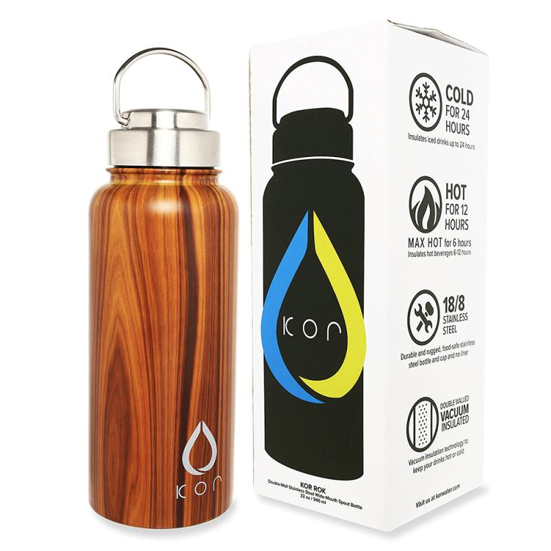 Thermos imitation bois pour conserver vos boissons