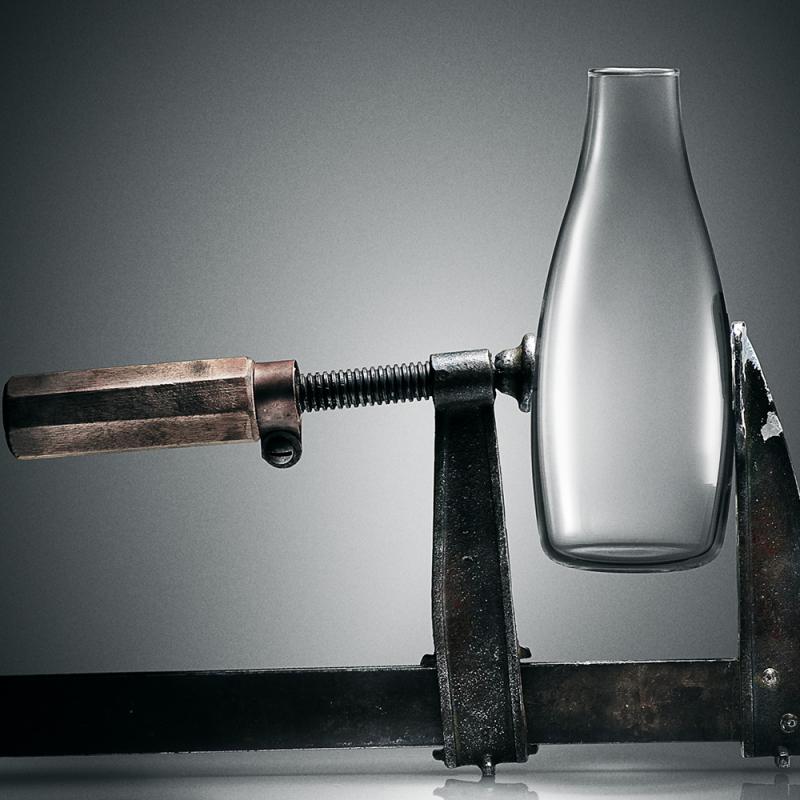 Bouteille design Retap, une bouteille en verre borosilicate et design