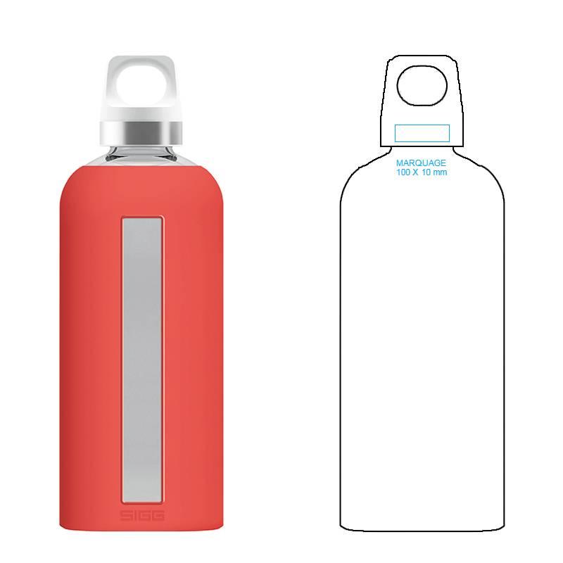 Bouteille en verre publicitaire design et écologique pour votre entreprise