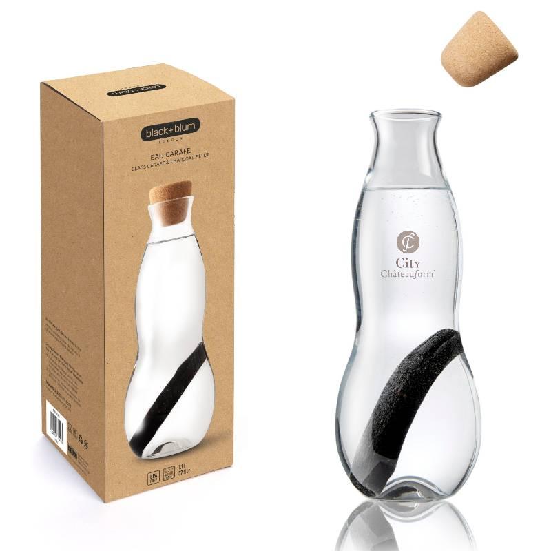 Carafe filtrante comme objet pub, écologique et design