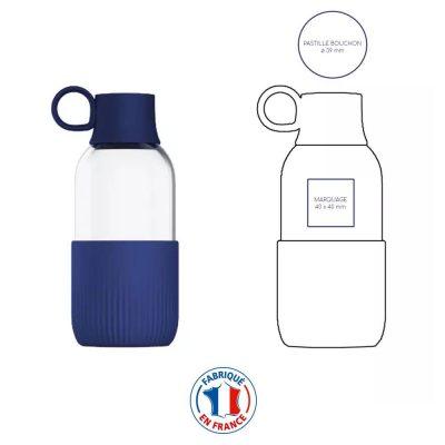 Gourde publicitaire en verre fabriquée en France