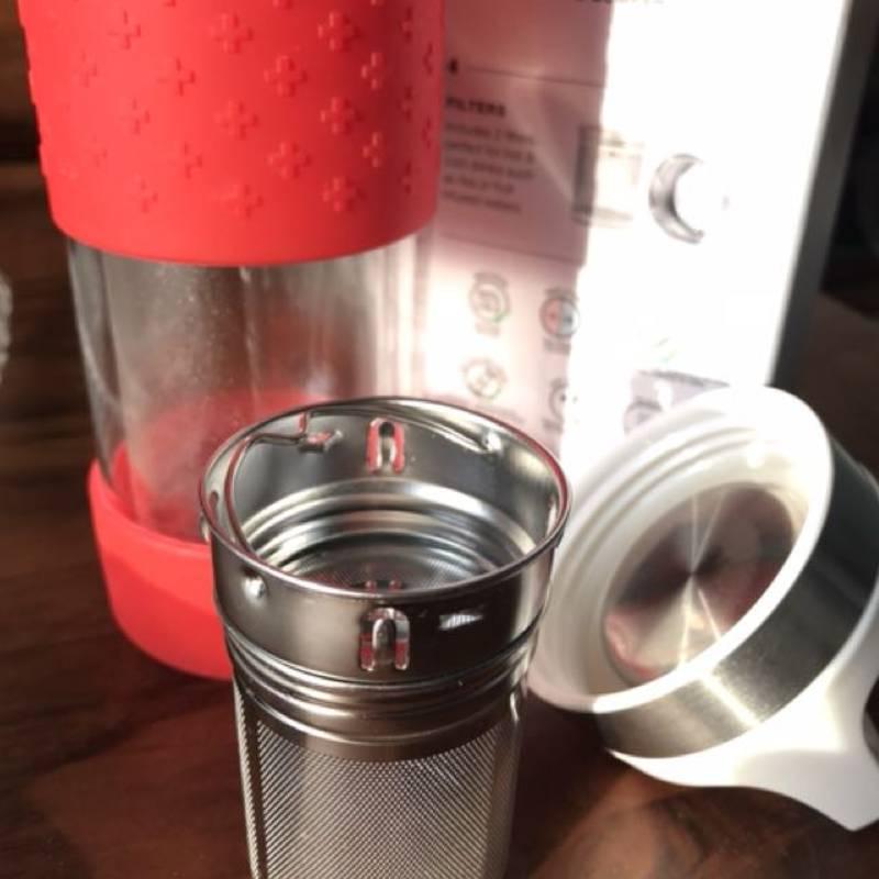 Gourde théière design avec filtres d'infusion, personnalisable