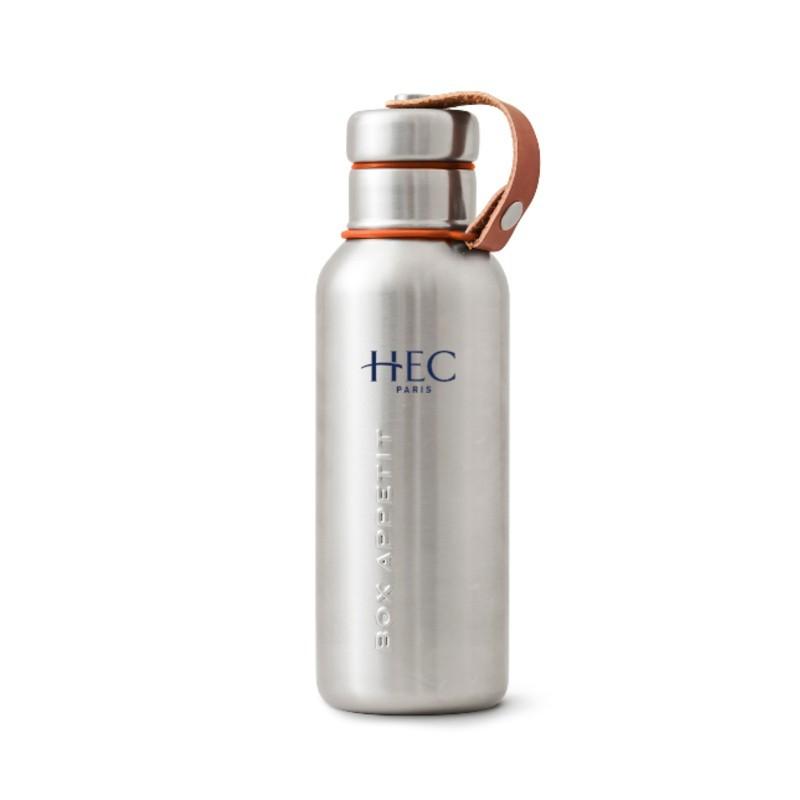 Gourde thermos personnalisée avec le loge de l'école HEC