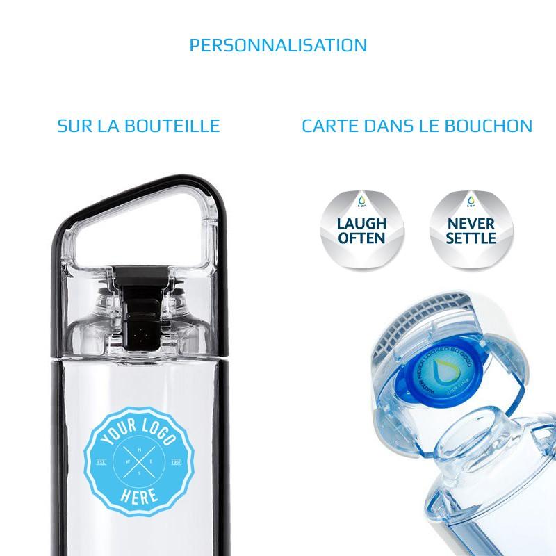 Bouteille d'eau publicitaire design et écologique par pimp-my-bottle