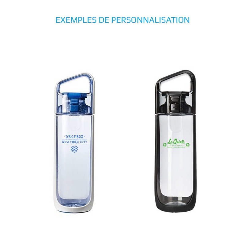 Bouteille d'eau publicitaire écologique personnalisable à votre nom