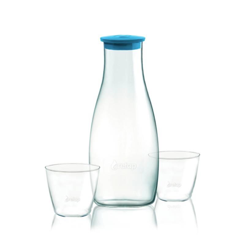 Carafe et verre personnalisables pour mettre en avant l'eau du robinet
