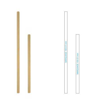 Paille réutilisable et personnalisable en bambou, passons au zéro déchet