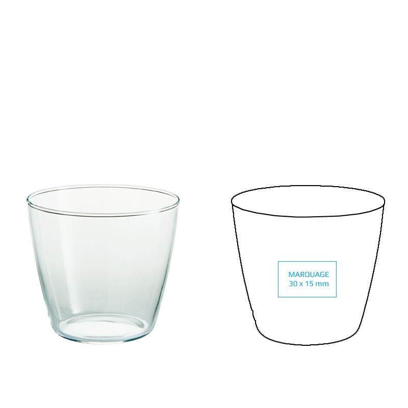 Verre à eau personnalisable et design, en complément d'une carafe à eau
