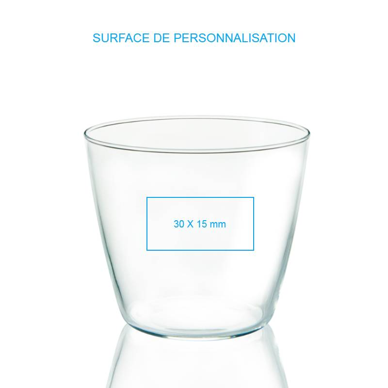 Verre d'eau personnalisable, un verre à votre image