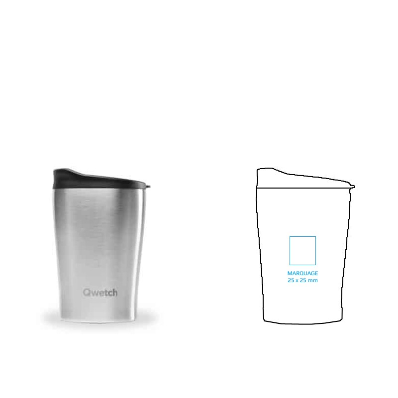 Mug isotherme personnalisé en inox de 24 cl