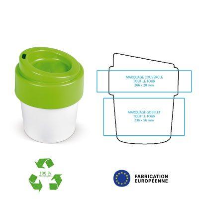 Gobelet personnalisé Pelosa en plastique 100% recyclable par Pimp my bottle