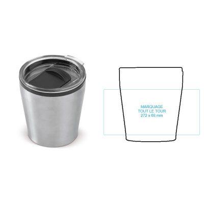 Mug de bureau personnalisé en inox, isotherme et design par Pimp my bottle